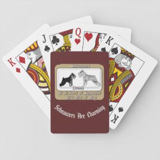 Cartes de jeu de Schnauzers standard de Jeux De Cartes