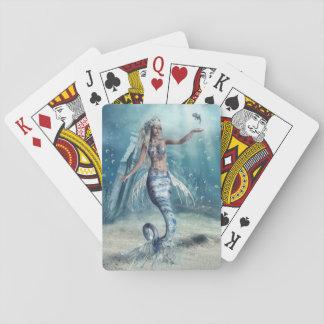 Cartes de jeu de sirène d'imaginaire cartes à jouer