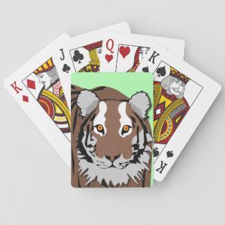 Cartes de jeu de tigre jeu de cartes
