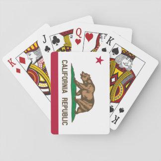 Cartes de jeu de tisonnier de drapeau d'état de jeu de cartes