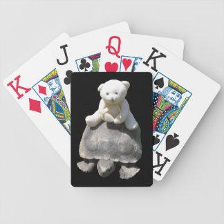 Cartes de jeu de tortue d'équitation d'ours jeu de 52 cartes