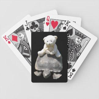 Cartes de jeu de tortue d'équitation d'ours jeu de cartes