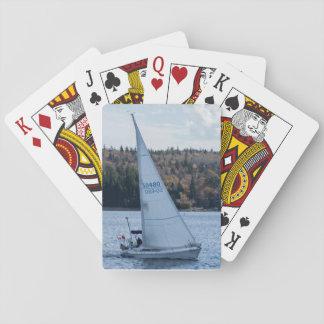Cartes de jeu de voilier jeux de cartes