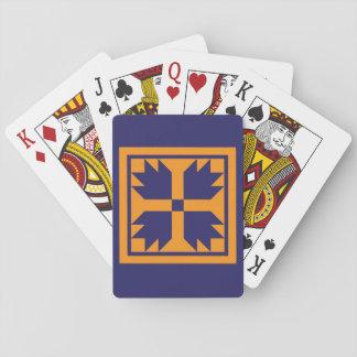 Cartes de jeu d'édredon - bloc de patte d'ours cartes à jouer