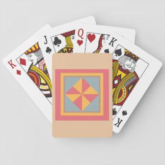 Cartes de jeu d'édredon - bloc de soleil jeu de cartes