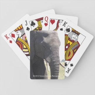 Cartes de jeu d'éléphant cartes à jouer poker