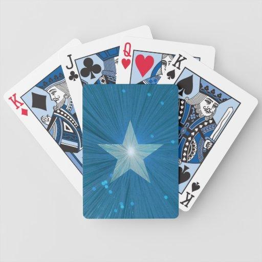 Cartes de jeu d'étoile bleue jeu de cartes poker