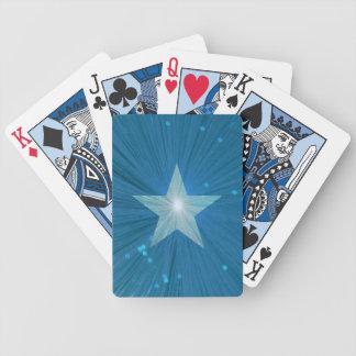 Cartes de jeu d'étoile bleue cartes à jouer
