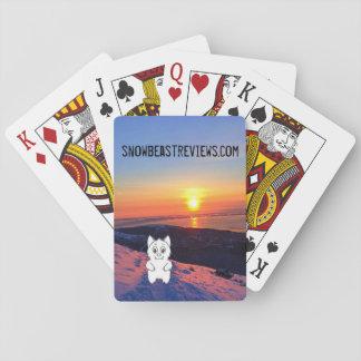 Cartes de jeu d'examens de bête de neige de jeu de cartes
