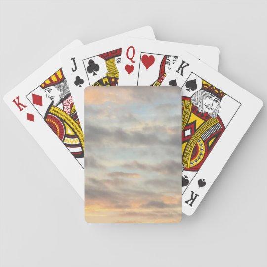 Cartes de jeu d'impression de coucher du soleil cartes à jouer