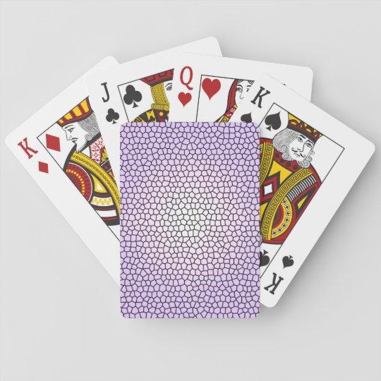 Cartes de jeu d'impression en verre souillé cartes à jouer