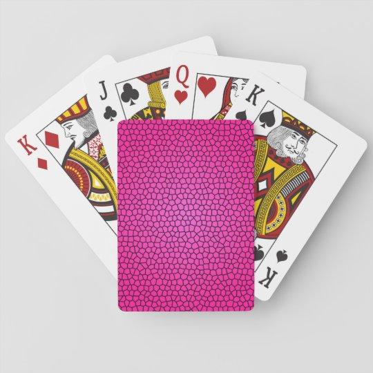 Cartes de jeu d'impression en verre souillé jeu de cartes