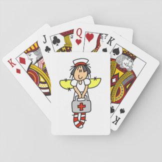 Cartes de jeu d'infirmière jeux de cartes