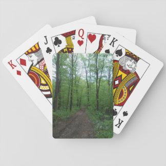 Cartes de jeu d'itinéraire aménagé pour amateurs jeux de cartes
