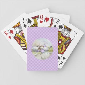 Cartes de jeu d'oeufs de pâques cartes à jouer