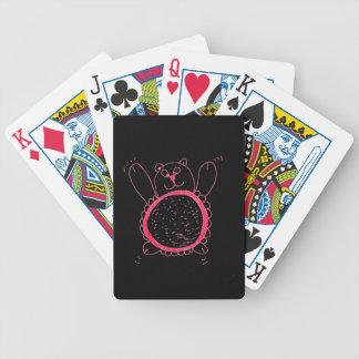 Cartes de jeu d'ours de tournesol jeu de cartes