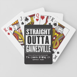 Cartes de jeu droites d'Outta Gainesville Jeux De Cartes