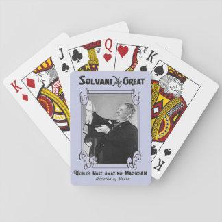Cartes de jeu du magicien jeu de cartes