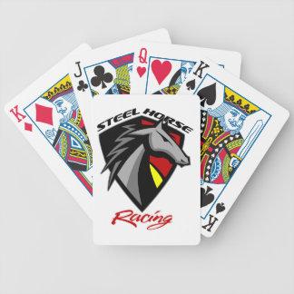 Cartes de jeu en acier de course de chevaux jeu de cartes