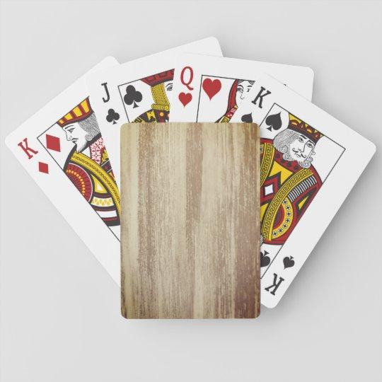 Cartes de jeu en bois de conception jeu de cartes