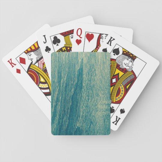 Cartes de jeu en bois de conception jeux de cartes