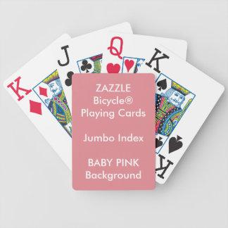 Cartes de jeu enormes d'index de bicyclette faite jeux de cartes