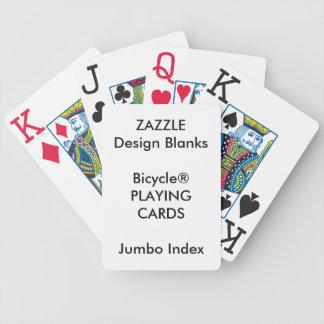 Cartes de jeu ENORMES personnalisées d'INDEX de Jeux De Cartes