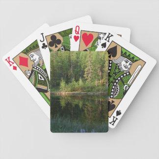 Cartes de jeu faites sur commande des réflexions d jeu de cartes