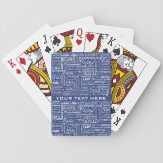 Cartes de jeu faites sur commande des villes de la cartes à jouer