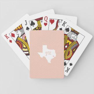 Cartes de jeu faites sur commande d'initiales de cartes à jouer