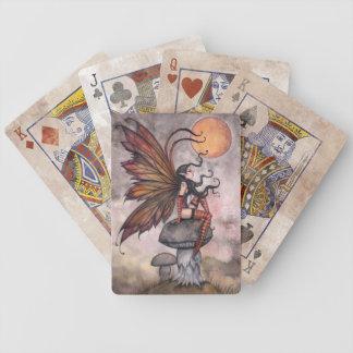 Cartes de jeu féeriques gothiques d'art jeux de cartes