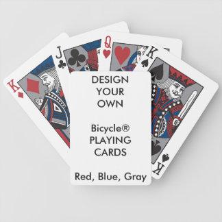 Cartes de jeu GRISES faites sur commande de ROUGE Jeu De Poker
