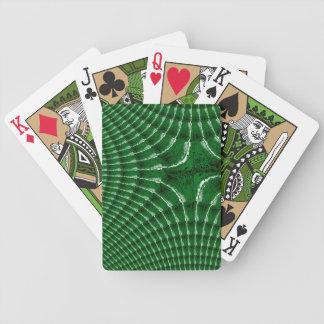 Cartes de jeu kaléïdoscopiques vertes de tisonnier jeu de cartes