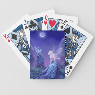 Cartes de jeu luminescentes d'art de fée et de cartes à jouer