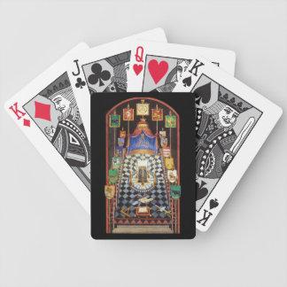 Cartes de jeu maçonniques de voûte royale cartes à jouer