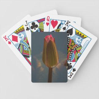 Cartes de jeu magenta roses de Lotus de nénuphars Jeu De Cartes