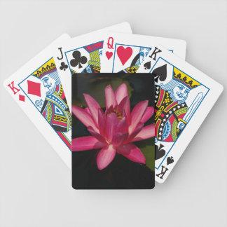 Cartes de jeu magenta roses de Lotus de nénuphars Jeux De Cartes