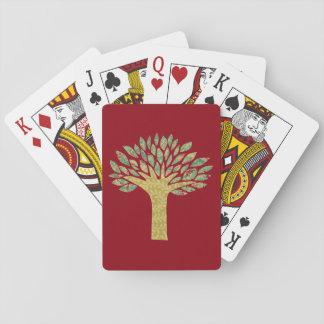 Cartes de jeu majestueuses d'arbre jeux de cartes