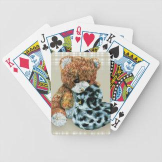 Cartes de jeu mignonnes d'ours et de canard de jeu de 52 cartes