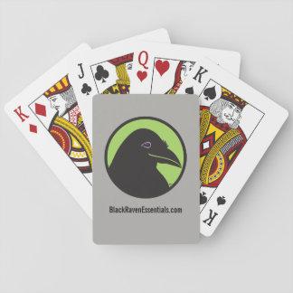 Cartes de jeu noires de logo de bases de Raven Jeu De Cartes