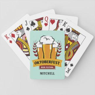 Cartes de jeu nommées faites sur commande jeu de cartes