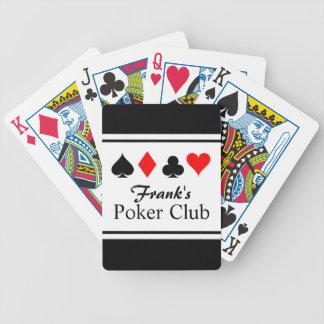 Cartes de jeu nommées personnalisées de tisonnier cartes à jouer