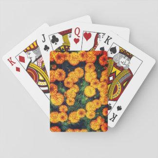 Cartes de jeu oranges de souci jeu de cartes