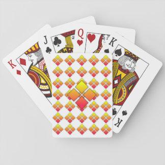 Cartes de jeu oranges rouges du diamant 3D Cartes À Jouer Poker
