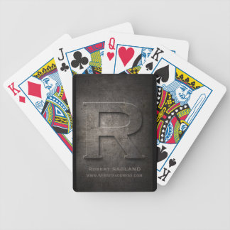 Cartes de jeu personnalisables de monogramme en jeu de poker