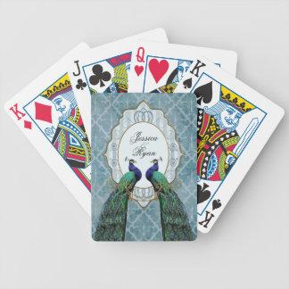 Cartes de jeu personnalisées (bleues) royales de p jeu de poker