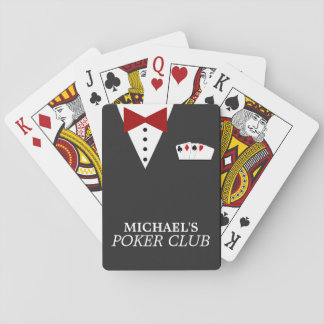 Cartes de jeu personnalisées de club de tisonnier cartes à jouer poker