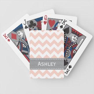 Cartes de jeu roses et grises de Chevron Bicycle® Jeu De Poker
