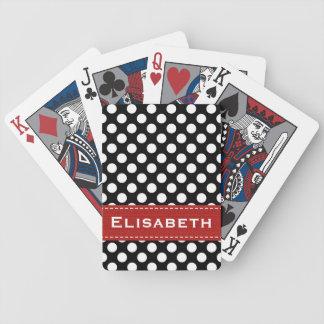 Cartes de jeu rouges et noires de Bicycle® de poin Cartes À Jouer