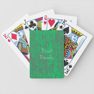 Cartes de jeu vertes jeu de cartes